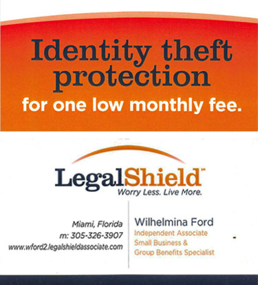 Legal Shield ad for Wilhelmina Ford