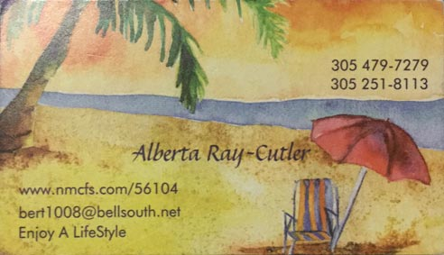 Alberta Ray-Cutler business card
