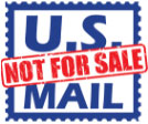 U.S. Mail not for sale